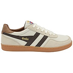 Gola Classics - Off white and brown and tan 'Elite' mens lace up trainers