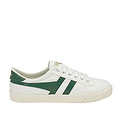 Gola Classics - Off White and Green 'Tennis Mark Cox' Mens Trainers