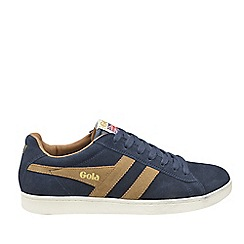 Gola Classics - Navy and tobacco 'Equipe suede' mens trainers