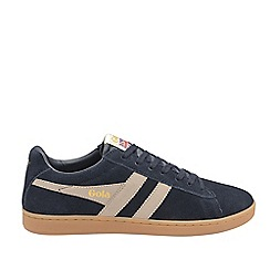 Gola Classics - Navy and stone and gum 'Equipe suede' mens trainers