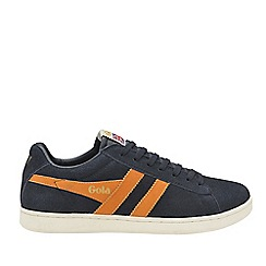 Gola Classics - Navy and burnt orange 'Equipe suede' mens trainers