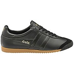 Gola Classics - Black and black 'Harrier 50 leather' mens trainers