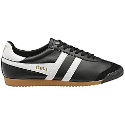 Gola - Black 'Harrier 50 Leather' mens trainers