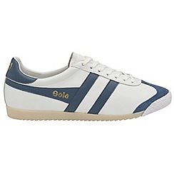 Gola - White 'Harrier 50 Leather' mens trainers