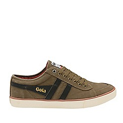 Gola Classics - Khaki and Black 'Comet' Mens Plimsolls