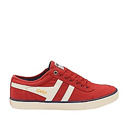Gola Classics - Deep Red and Off White 'Comet' Mens Plimsolls