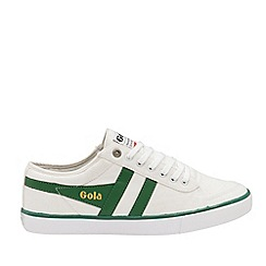 Gola Classics - White and Dark Green 'Comet' Mens Plimsolls