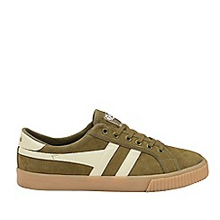 Gola Classics - Khaki and White 'Tennis Mark Cox Suede' Mens Trainers