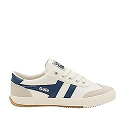 Gola Classics - Off White and Baltic 'Badminton' Mens Trainers