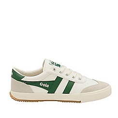 Gola Classics - Off White and Green 'Badminton' Mens Trainers