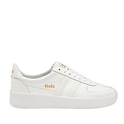 Gola Classics - White 'Grandslam Leather' Mens Trainers