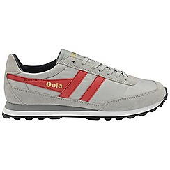 Gola Classics - Light grey and red and navy 'Flyer' mens trainers