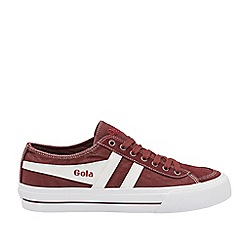 Gola Classics - Burgundy and White 'Quota Ii' Mens Trainers