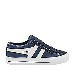 Gola Classics - Navy and white 'Quota ii' mens lace up plimsolls