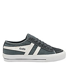 Gola Classics - Graphite and White 'Quota Ii' Mens Lace Up Plimsolls