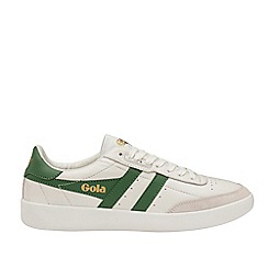 Gola Classics - White and Green 'Inca Leather' Mens Trainers