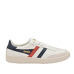 Gola Classics - White and Navy and Red 'Inca Leather' Mens Trainers