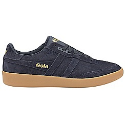 Gola Classics - Navy and navy and gum 'Inca suede' mens trainers