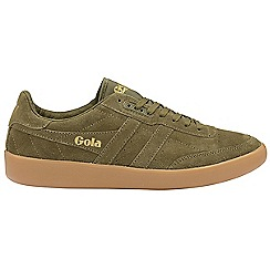 Gola Classics - Khaki and gum 'Inca suede' mens trainers