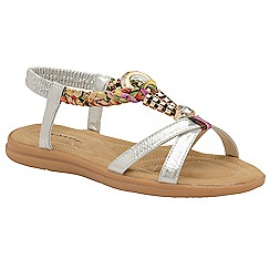 Dunlop - Silver 'Adonia' ladies open toe sandals
