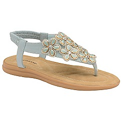 Dunlop - Powder Blue 'Jaden' ladies toe post sandals