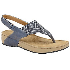 Dunlop - Lapis Blue 'Zelda' ladies toe post sandals