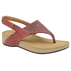 Dunlop - Ruby 'Zelda' ladies toe post sandals
