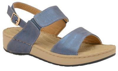 Dunlop - Lapis Blue 'Mira' ladies open toe sandals