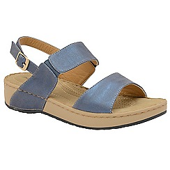 Dunlop - Lapis Blue 'Mira' ladies open toe sandals