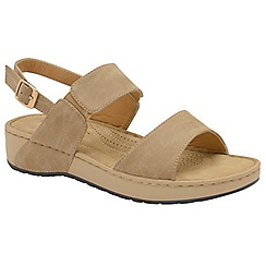 Dunlop - Taupe 'Mira' ladies open toe sandals