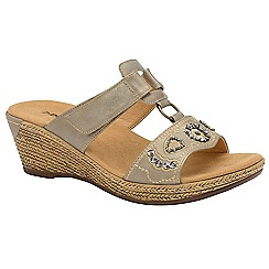 Dunlop - Pewter 'Linda' ladies wedge sandals
