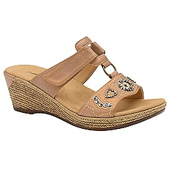 Dunlop - Copper 'Linda' ladies wedge sandals