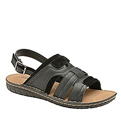 Dunlop - Black 'Garrett' Open-Toe Sandals