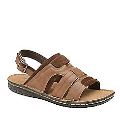 Dunlop - Brown 'Garrett' Open-Toe Sandals