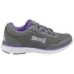 Lonsdale - Grey/purple 'Southwick' ladies lace up trainers