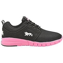 Lonsdale - Black & pink 'Sivas' ladies lace up trainers