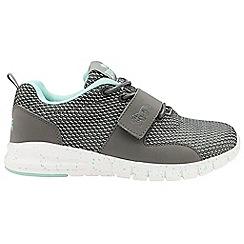 Lonsdale - Grey/mint 'Novas' ladies lace up trainers