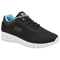 Lonsdale - Black and blue 'Tydro' ladies lace up trainers