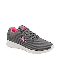 Lonsdale - Grey and Pink 'Tydro' Ladies Lace Up Trainers