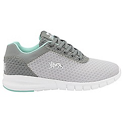 Lonsdale - Grey/Mint 'Tydro' ladies lace up sports trainers