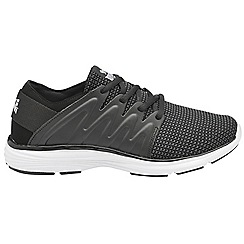Lonsdale - Black & grey 'Peru' ladies lace up sports trainers