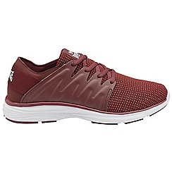 Lonsdale - Burgundy 'Peru' ladies lace up sports trainers