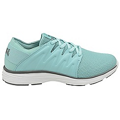 Lonsdale - Mint and grey 'Peru' ladies lace up trainers