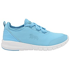 Lonsdale - Blue and white 'Zambia' ladies lace up sports trainers