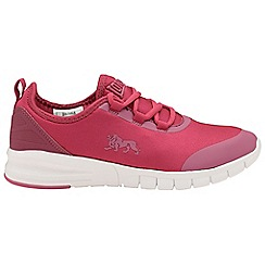 Lonsdale - Pink/White 'Zambia' ladies lace up trainers