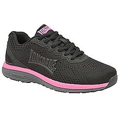 Lonsdale - Black, pink & grey 'Lisala' ladies trainers