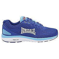 Lonsdale - Blue/White 'Lisala' ladies lace up trainers