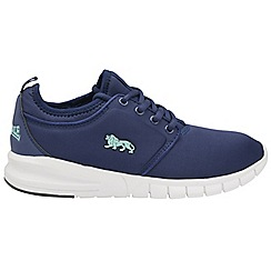Lonsdale - Navy and mint 'Propus' ladies trainers