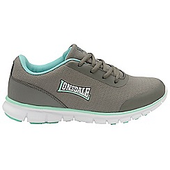 Lonsdale - Grey and mint 'Capella' ladies trainers