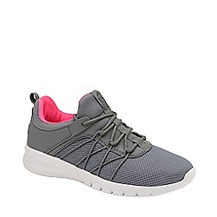 Lonsdale - Grey and Pink 'Epic' Ladies Lace Up Trainers